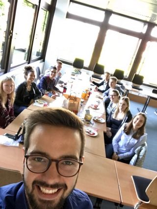 End-of-year breakfast with my Business English class at the Bertelsmann Berufsschule